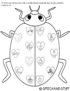 Valentine's Day Articulation Love Bug! BUNDLE- 16 Sounds! PRINT AND GO!