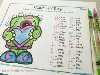 Articulation For Valentine's Day in Speech Therapy