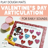 Valentine's Day Articulation Play Dough Mats