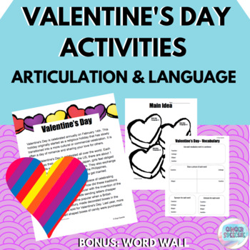 Valentine's Day | Articulation and Language | No Prep