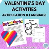 Valentine's Day | Articulation and Language | No Prep