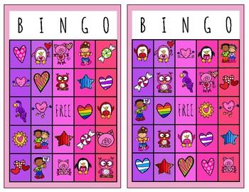 Valentine's Day BINGO- 12 unique boards
