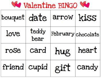 Valentine's Day BINGO - 2 SETS (Letters & Words)