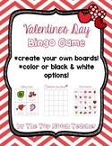 Valentine's Day BINGO Game Create Your Own Board!