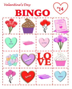 Valentine's Day BINGO--PRINTABLE! Great for your class party!
