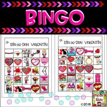 Valentine's Day BINGO in Spanish