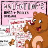 Valentine's Day BINGO with Riddles