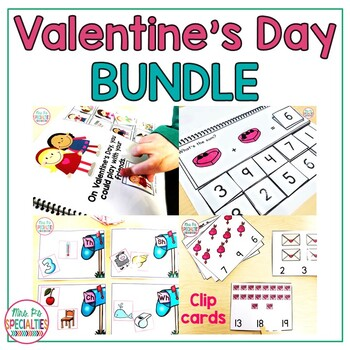 Valentine's Day BUNDLE (Interactive books and Centers)