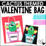 Valentine's Day Bag Craft   Cactus Themed