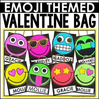 Valentine S Day Bag Craft Emoji Style By The Bubbly Blonde Tpt