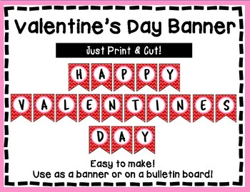 Valentine's Day Banner - Bulletin Board