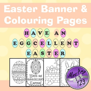 Easter Banner and Colouring Pages