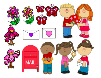 Valentine's Day Barrier Game/Picture Scene for Qualitative and Spatial Concepts!