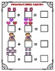 Valentine's Day Basic Addition Math Worksheet (sums up to 10)