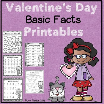 Valentine's Day Basic Facts Printables