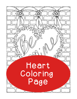 Valentine's Day Be Mine Coloring Page, Bulletin Board, Holiday Heart