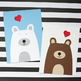 Valentine's Day  Bear Craft - Valentine Heart Bear Craft