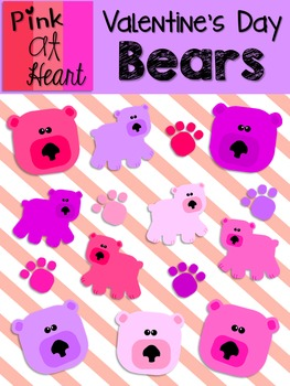 Valentine's Day Bears Clip Art