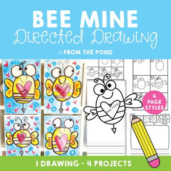 Valentine's Day Bee Directed Drawing {Art Project}