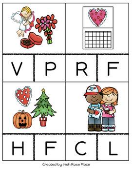 Valentine's Day Beginning Sound Cards