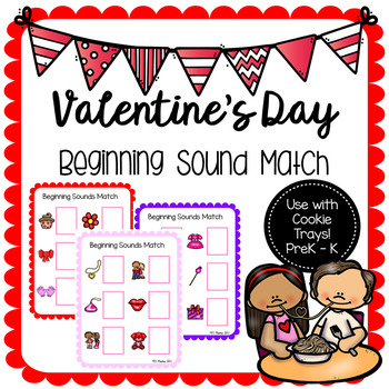 Valentine's Day Beginning Sound Cookie Tray Sheets