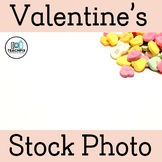 Valentine's Day Big Candy Hearts Stock Photo