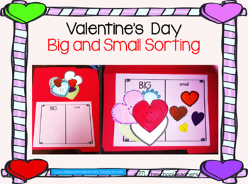 Valentine´s Day Big and Small Hearts Book