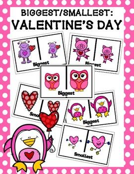 Valentine's Day Biggest-Smallest Clip Cards