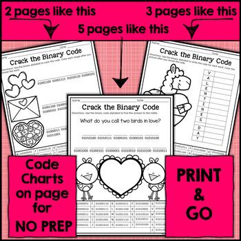 Valentine's Day Binary Code STEM Activities