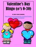 Valentine's Day Bingo 0-30