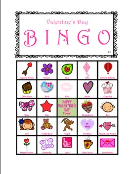 Valentine's Day Bingo! (36 BINGO BOARDS)