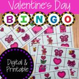 Valentine's Day Bingo Activity | Digital and Printable Game