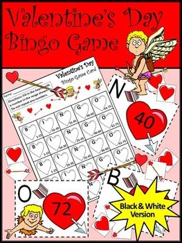 Valentine's Day Game Activities: Valentine's Day Bingo Game Activity Packet