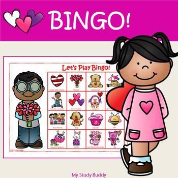 Valentine's Day Bingo (Valentine's Day Activities, Valentine Bingo Game)