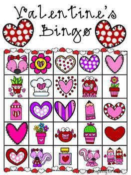 Valentine's Day Bingo Activity