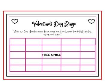 Valentine's Day Bingo-Basic Operations