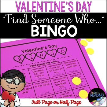 "Valentine's Day Bingo!  ""Find Someone Who..."" Free Bingo Activity!"