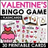 Valentine's Day Bingo Game - 30 Cards