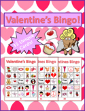 Valentine's Day Bingo Game Set | 35 Unique Numbered Player Cards