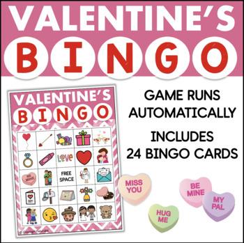 Valentine's Day Bingo Game for Powerpoint