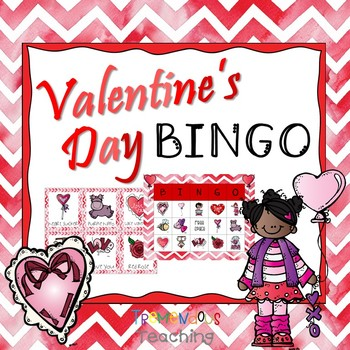 Valentine's Day Bingo Party Game Cards
