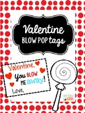 Valentine's Day Blow Pop Tag