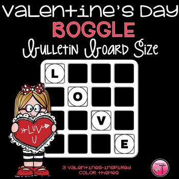 Valentine's Day Boggle Bulletin Board Size