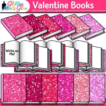 Valentine's Day Book Clip Art | School Clipart for Teachers
