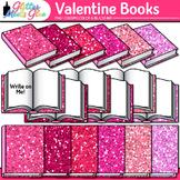 Valentine's Day Book Clip Art {School Supplies for Classro