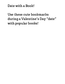 Valentine's Day Book Dating Bookmark