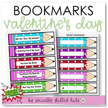 Valentine's Day Book Marks~ FREE!