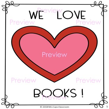 Valentine's Day Book Project