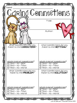 Valentine's Day Printables FREEBIE! Use with ANY BOOK! FREE Resource