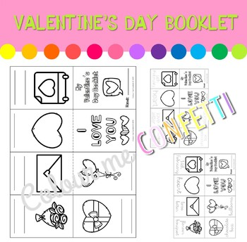 Valentine's Day Booklet - Colour me Confetti